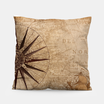 Miniaturka Old vintage map  Pillow, Live Heroes