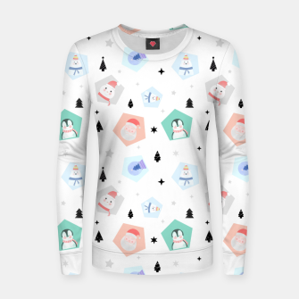 Thumbnail image of Funny Christmas Women sweater, Live Heroes