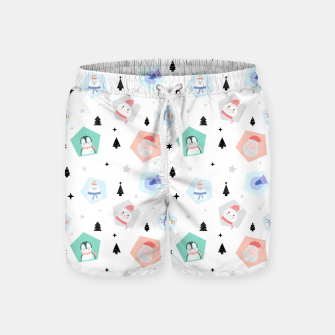 Thumbnail image of Funny Christmas Swim Shorts, Live Heroes