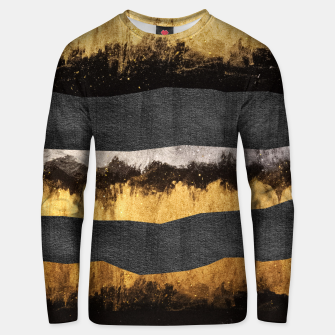 Miniaturka Golden Ocean Waves #1 #abstract #painting #decor #art  Unisex sweatshirt, Live Heroes