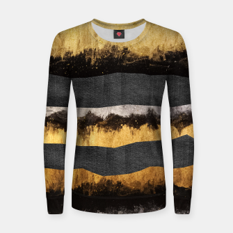 Miniaturka Golden Ocean Waves #1 #abstract #painting #decor #art  Frauen sweatshirt, Live Heroes