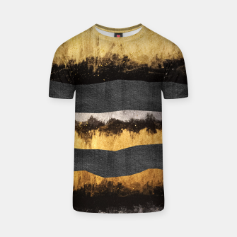 Miniaturka Golden Ocean Waves #1 #abstract #painting #decor #art  T-Shirt, Live Heroes