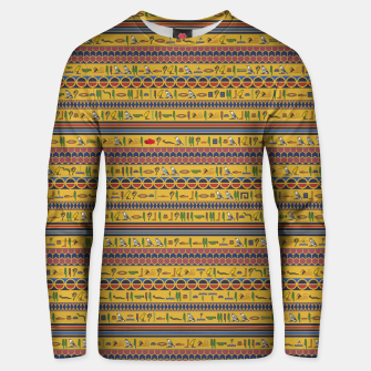 Thumbnail image of Too Many Hieroglyphs Unisex sweater, Live Heroes