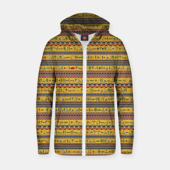 Thumbnail image of Too Many Hieroglyphs Zip up hoodie, Live Heroes
