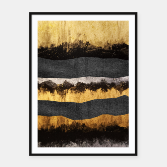 Miniaturka Golden Ocean Waves #1 #abstract #painting #decor #art  Plakat mit rahmen, Live Heroes