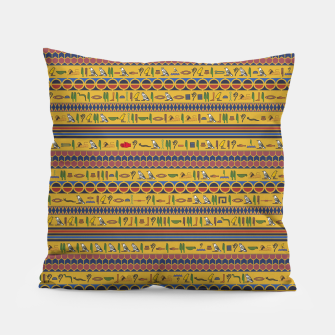 Thumbnail image of Too Many Hieroglyphs Pillow, Live Heroes