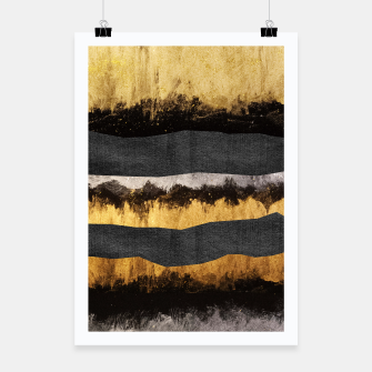 Miniaturka Golden Ocean Waves #1 #abstract #painting #decor #art  Plakat, Live Heroes
