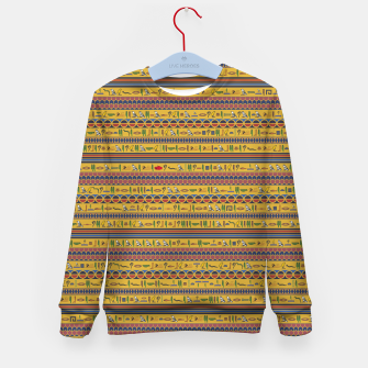 Thumbnail image of Too Many Hieroglyphs Kid's sweater, Live Heroes