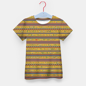 Thumbnail image of Too Many Hieroglyphs Kid's t-shirt, Live Heroes