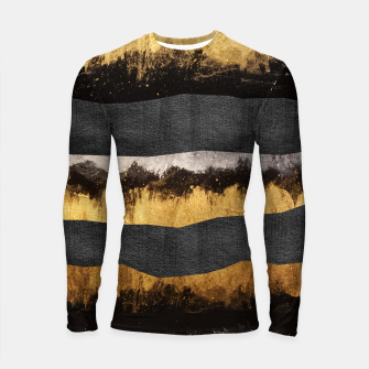 Miniaturka Golden Ocean Waves #1 #abstract #painting #decor #art  Longsleeve rashguard, Live Heroes