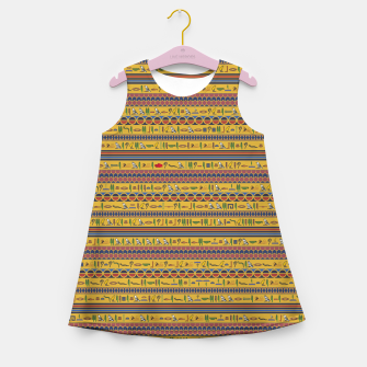 Thumbnail image of Too Many Hieroglyphs Girl's summer dress, Live Heroes