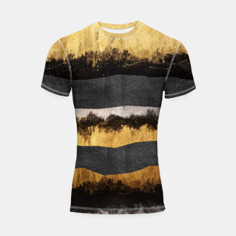Miniaturka Golden Ocean Waves #1 #abstract #painting #decor #art  Shortsleeve rashguard, Live Heroes