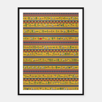 Thumbnail image of Too Many Hieroglyphs Framed poster, Live Heroes