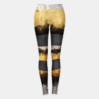 Miniaturka Golden Ocean Waves #1 #abstract #painting #decor #art  Leggings, Live Heroes