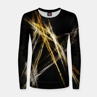Thumbnail image of Abstract 2 - Gold & Silver LowPoly Frauen sweatshirt, Live Heroes
