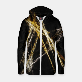Thumbnail image of Abstract 2 - Gold & Silver LowPoly Reißverschluss kapuzenpullover, Live Heroes