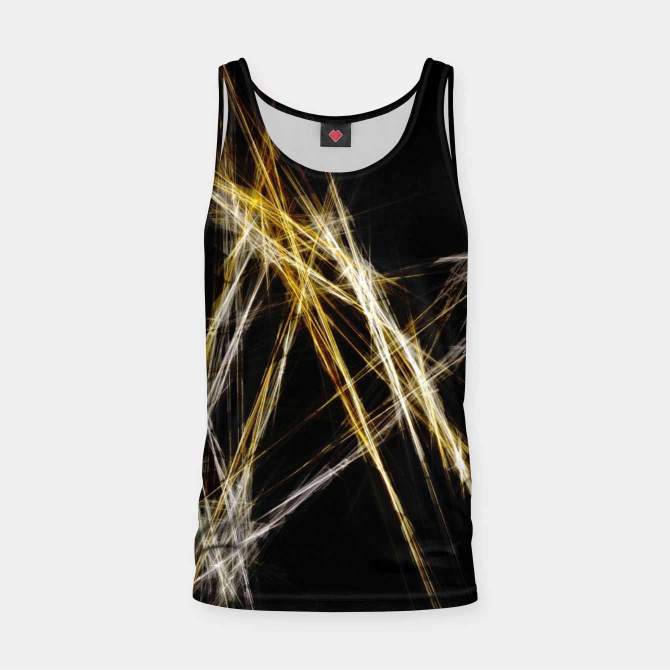 Image de Abstract 2 - Gold & Silver LowPoly Muskelshirt  - Live Heroes