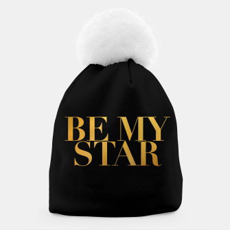 Thumbnail image of BE MY STAR black beanie, Live Heroes