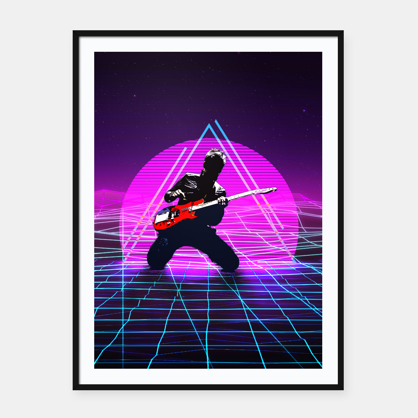 Foto Muse Matt 1980 Style Framed poster - Live Heroes