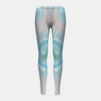 Thumbnail image of Cosmic floral fantasy Girl's leggings, Live Heroes