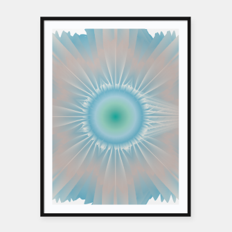 Thumbnail image of Cosmic floral fantasy Framed poster, Live Heroes