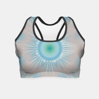 Thumbnail image of Cosmic floral fantasy Crop Top, Live Heroes