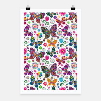 Thumbnail image of Colorful Butterflies Poster, Live Heroes