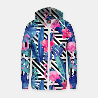 Flamingo's Style Zip up hoodie miniature