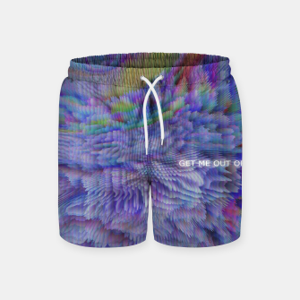 Thumbnail image of GET ME OUT OF HERE Swim Shorts, Live Heroes