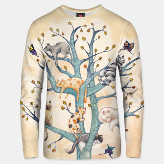 The tree of cat life Sudadera unisex Bild der Miniatur
