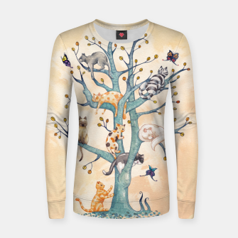 The tree of cat life Sudadera para mujeres Bild der Miniatur