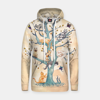 Thumbnail image of The tree of cat life Sudadera con capucha, Live Heroes