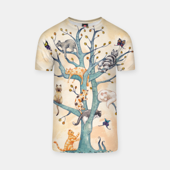 The tree of cat life Camiseta Bild der Miniatur