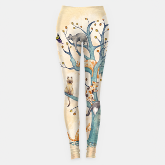 The tree of cat life Leggings Bild der Miniatur