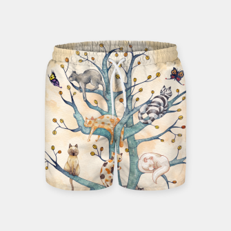 The tree of cat life Pantalones de baño Bild der Miniatur