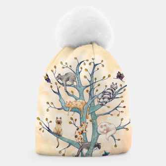 The tree of cat life Gorro Bild der Miniatur