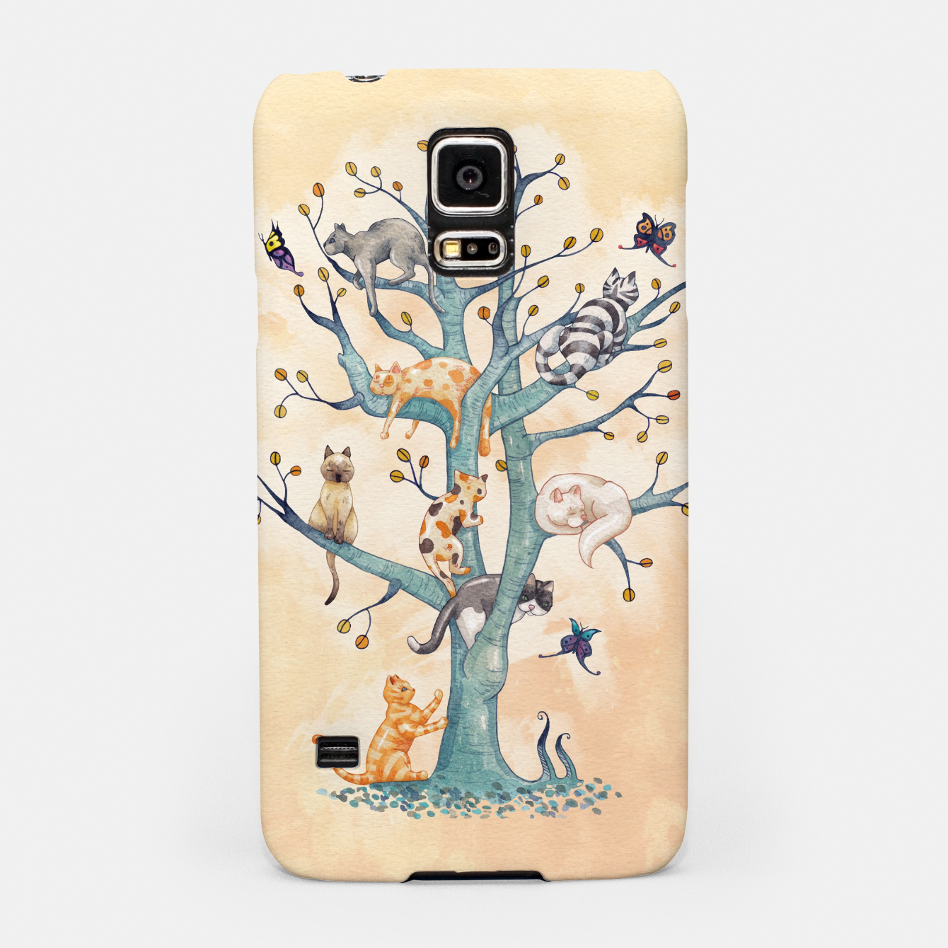 Foto The tree of cat life Carcasa por Samsung - Live Heroes