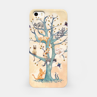 The tree of cat life Carcasa por Iphone Bild der Miniatur