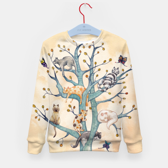 The tree of cat life Sudadera para niños Bild der Miniatur