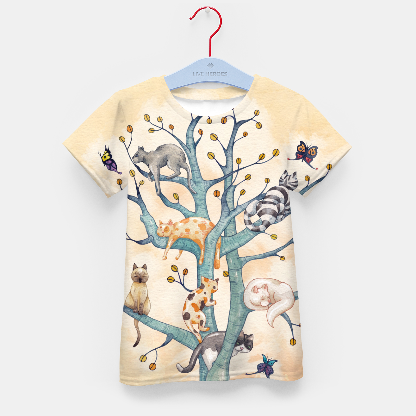 Foto The tree of cat life Camiseta para niños - Live Heroes
