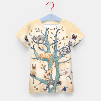 The tree of cat life Camiseta para niños Bild der Miniatur