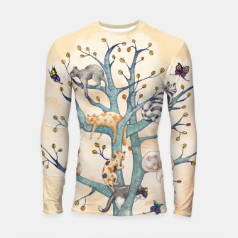 Miniatur The tree of cat life Longsleeve rashguard, Live Heroes