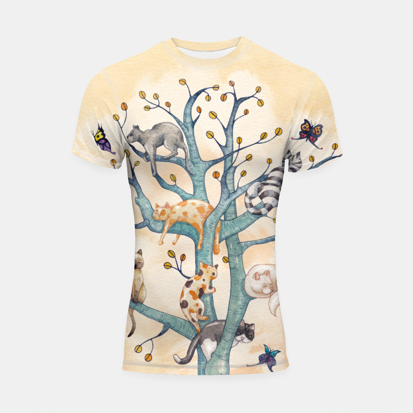Foto The tree of cat life Shortsleeve rashguard - Live Heroes