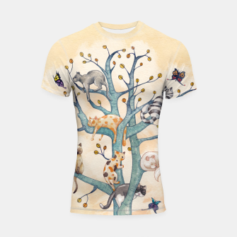 The tree of cat life Shortsleeve rashguard Bild der Miniatur