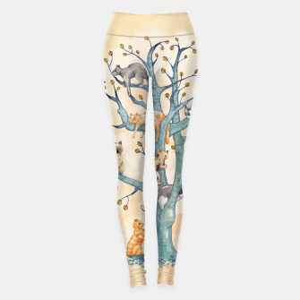 Miniatur The tree of cat life Leggings, Live Heroes