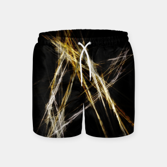 Abstract 2 - Gold & Silver LowPoly Badeshorts miniature