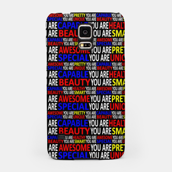 Thumbnail image of Motivational Typographic Colorful Print Pattern Samsung Case, Live Heroes