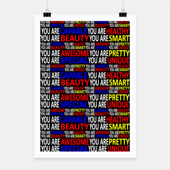 Thumbnail image of Motivational Typographic Colorful Print Pattern Poster, Live Heroes