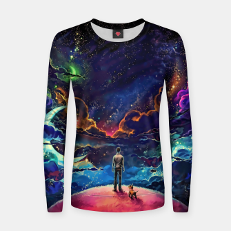 Man dog space Women sweater thumbnail image