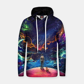 Thumbnail image of Man dog space Hoodie, Live Heroes
